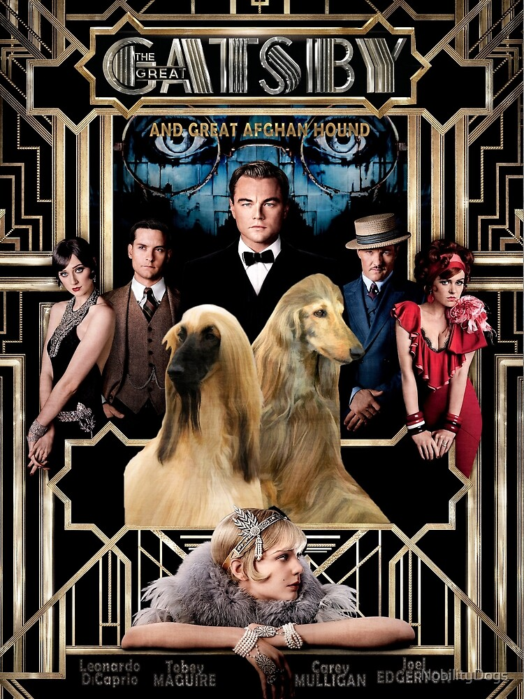 Afghan Hound - The Great Gatsby Movie Poster Art by NobilityDogs