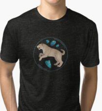 Smilodon fatalis with chrysocolla Tri-blend T-Shirt