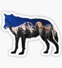 Evening Howl Sticker
