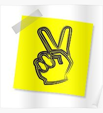 Post-it peace  Poster