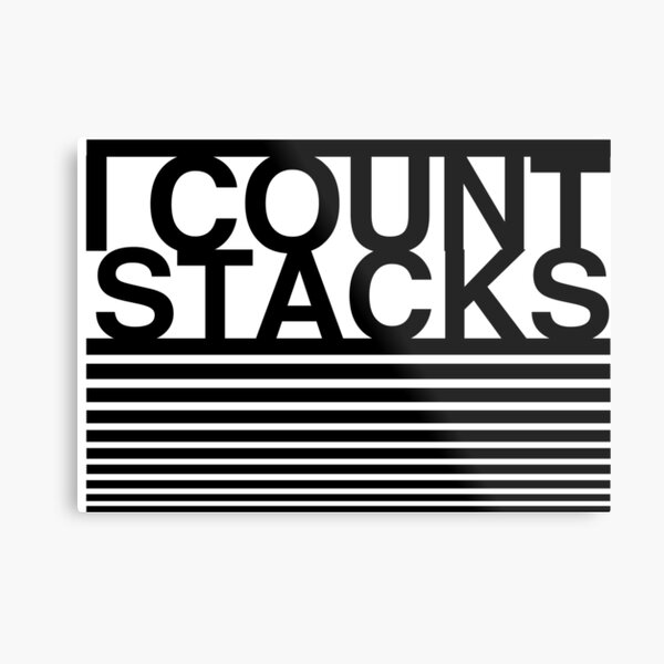 Big Sean - Bounce Back - I count stacks Metal Print