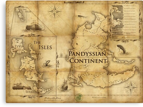 Map Of Pandyssia The Empire Of The Isles And The Months