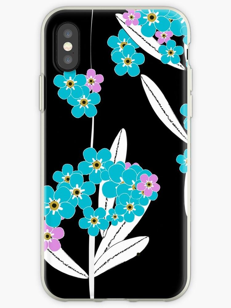 Pattern-Blue flowers by AnnaVenski