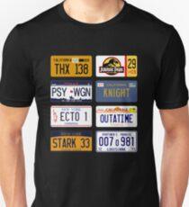 Famous license plates mixology colors Unisex T-Shirt