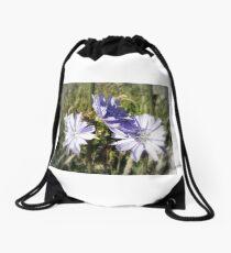 chicory flowers 5 Drawstring Bag