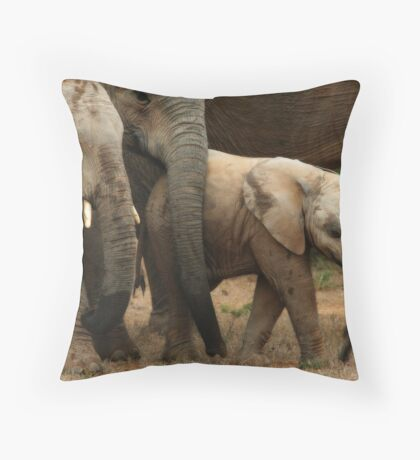 The Baby Of The Herd Throw Pillow