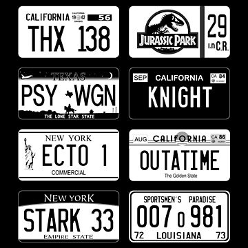 Famous license plates mixology black by Udezigns
