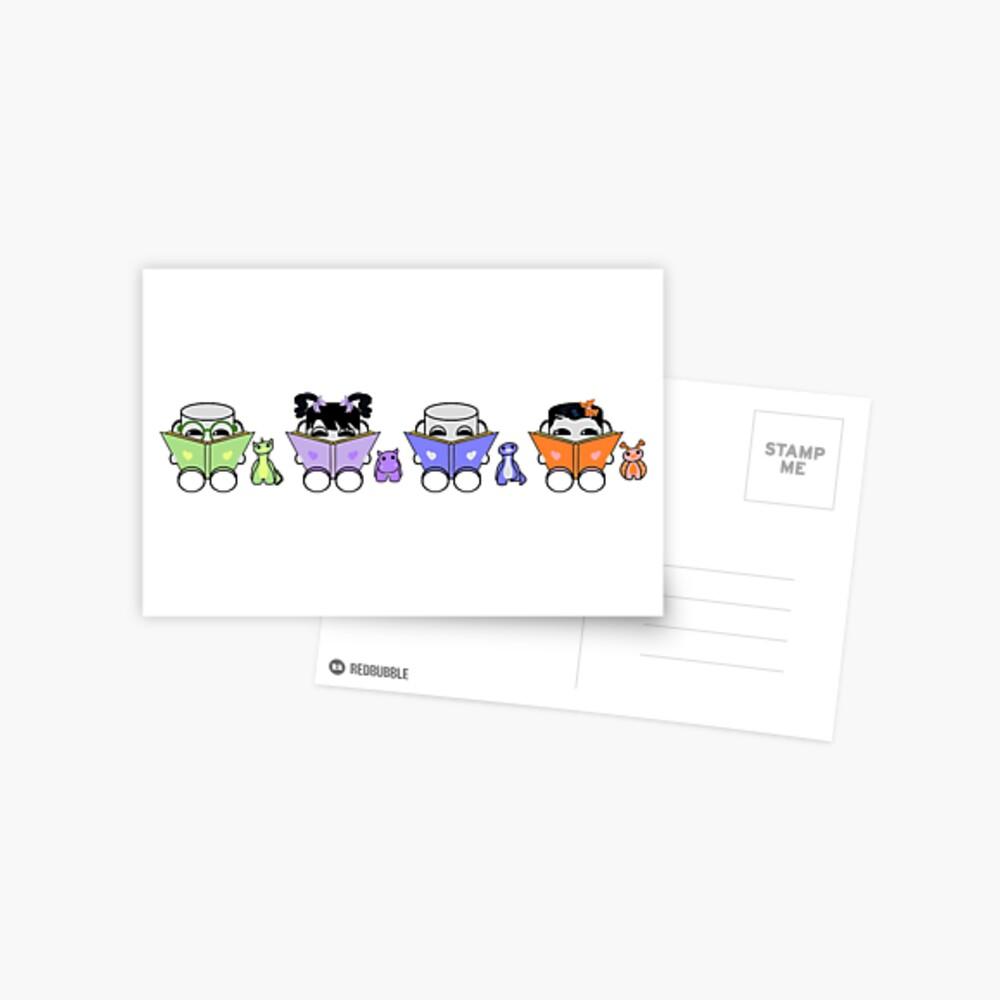 Reading is a Family Affair: The Yo O'BABYBOT Toy Robots 1.0 Postcard