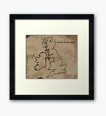 Insulae Britannicae Framed Print