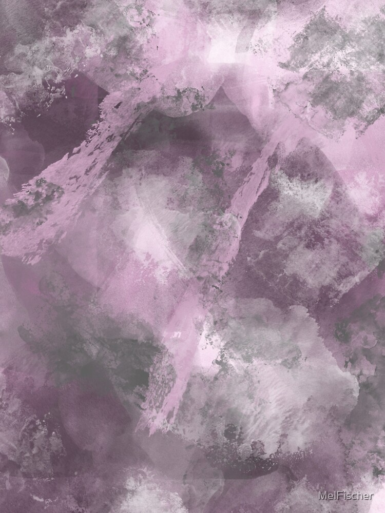 Stormy Abstract Design in Pink and Gray by MelFischer
