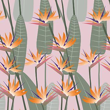 Bird of paradise - pink von youdesignme