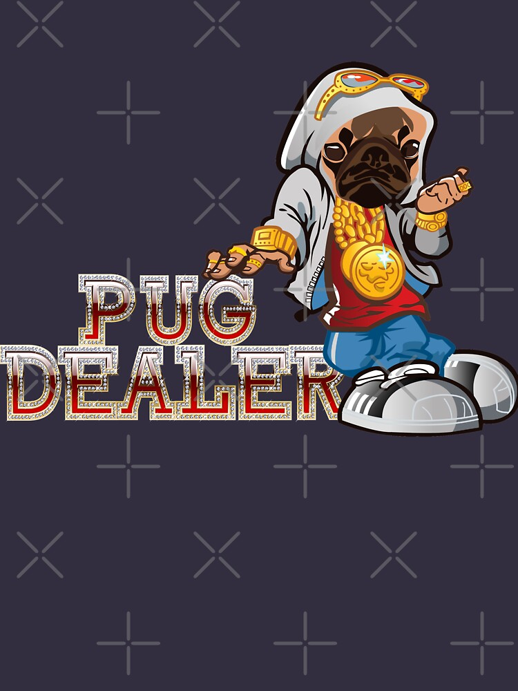 Pug Dealer Pug loving Dog T Shirt Free UK shipping by 2stevos