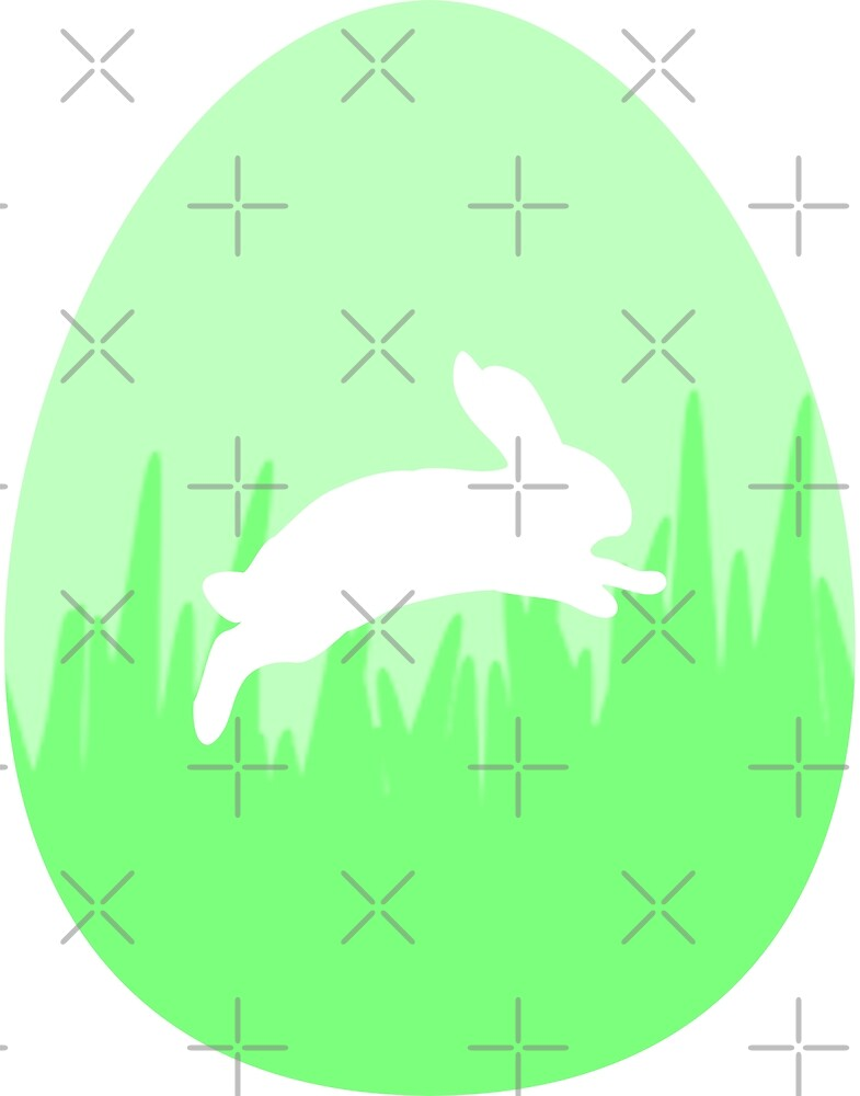 Green Bunny Rabbit Egg by Zap-Works