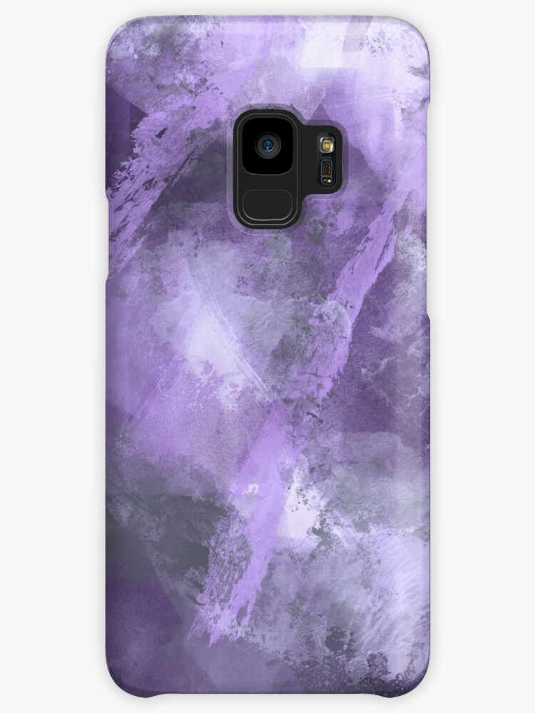 Stormy Abstract Design in Purple and Gray by MelFischer