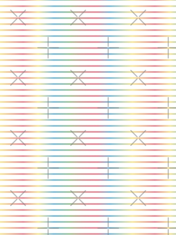 Thin Stripes | Pastel Rainbow Variant by thepinecones