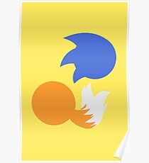 Sonic and Tails (yellow) Poster