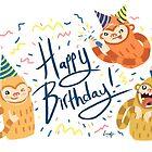 Birthday Party Slothmonkeys by Lizziefij