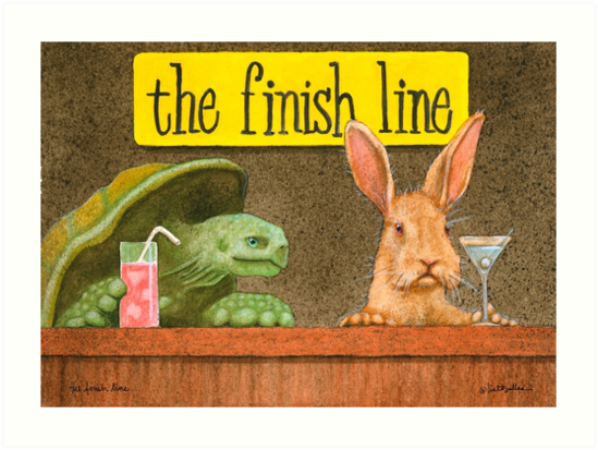 Will Bullas / art print / the finish line... / humor / animals by Will Bullas