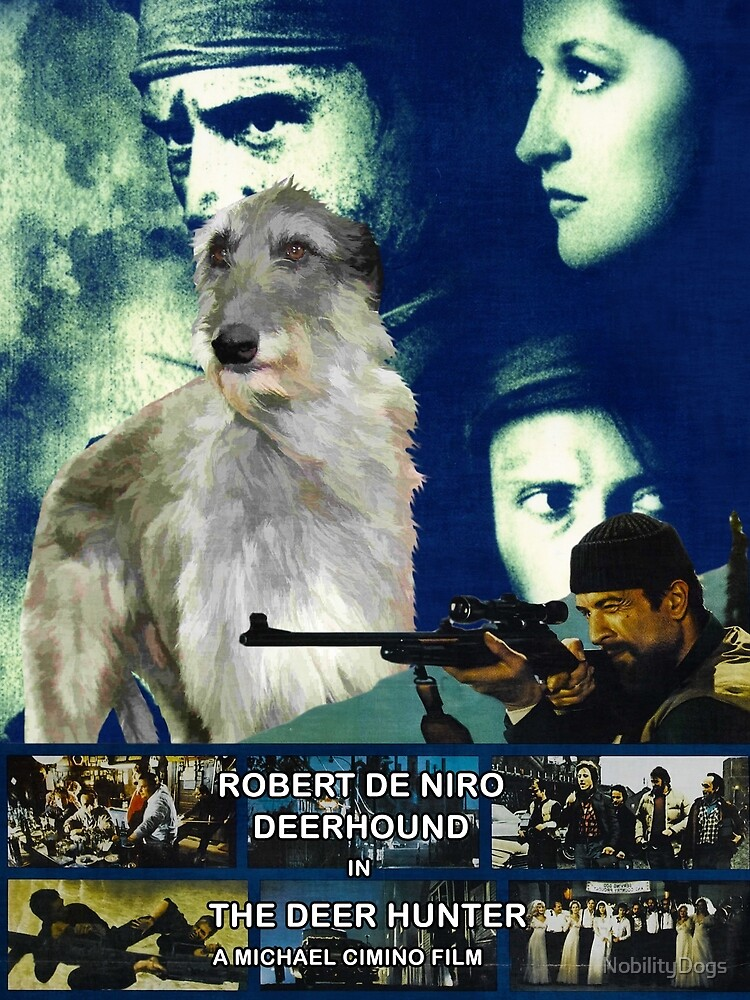 Scottish Deerhound Art - The Deer Hunter Movie Poster by NobilityDogs