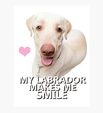 lab smile Photographic Print
