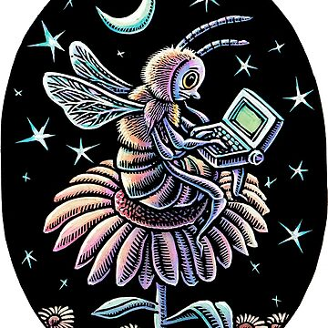Bee Working at Night by LisaHaney