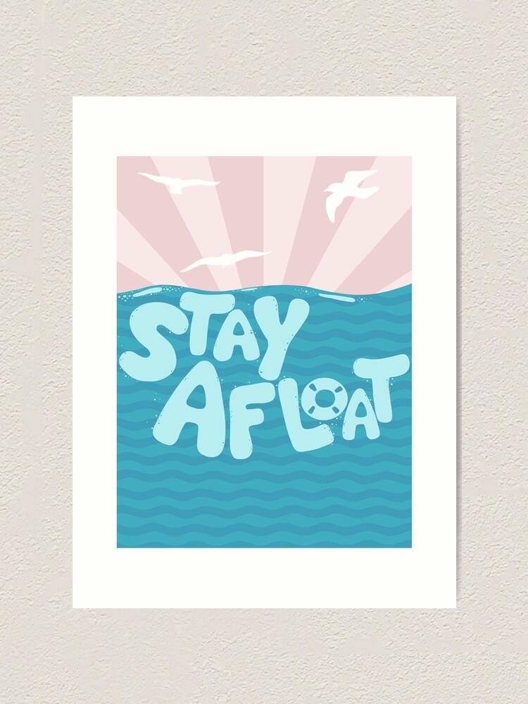 Alternate view of ST\Y AFLOAT Art Print