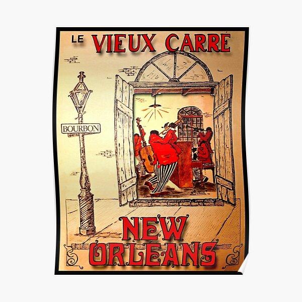 NEW ORLEANS: Vintage Mardi Gras Jazz Advertising Print  Poster