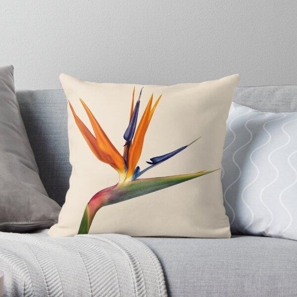 Single Strilitzia Flower Throw Pillow