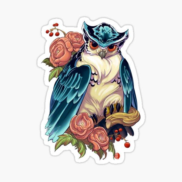 Irezumi Owl 002-001 Sticker