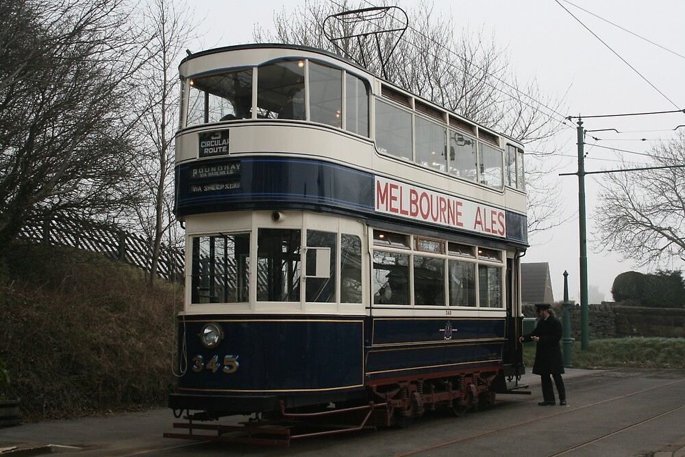 Leeds Tramcar No 345 by RedHillDigital