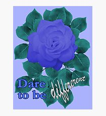 Dare to Be Different - Indigo Blue Rose Photographic Print