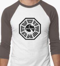 Dharma Initiative - The Swan Station Logo (Lost TV Show) Men's Baseball ¾ T-Shirt