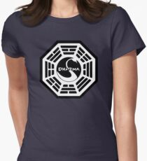 Dharma Initiative - The Swan Station Logo (Lost TV Show) Women's Fitted T-Shirt