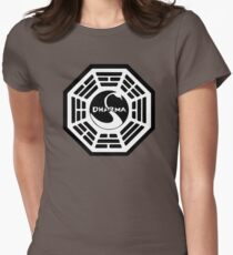 Dharma Initiative - The Swan Station Logo (Lost TV Show) Womens Fitted T-Shirt