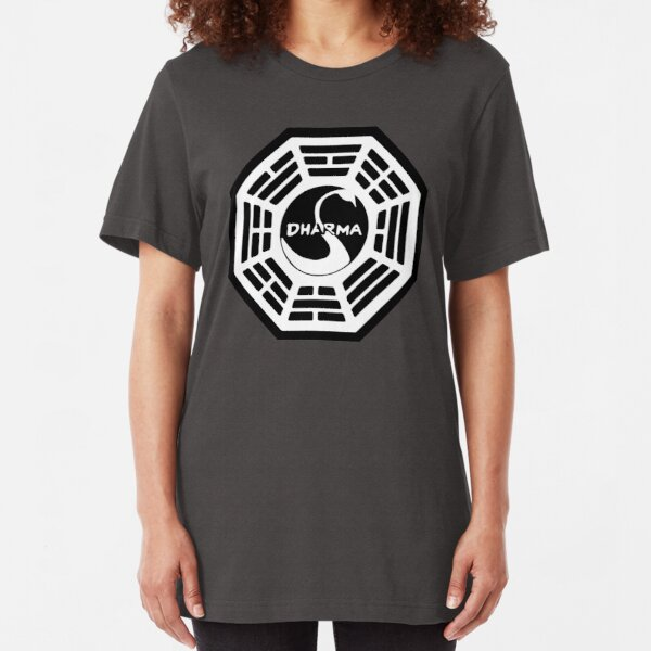 Dharma Initiative - The Swan Station Logo (Lost TV Show) Slim Fit T-Shirt