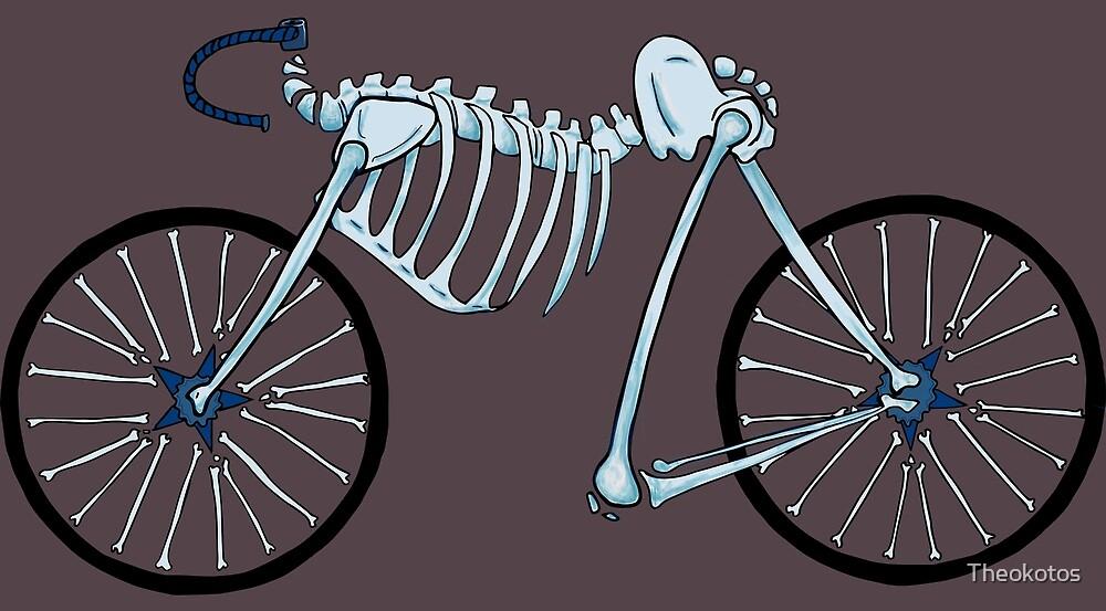 Purple Skeleton Bike by Theokotos