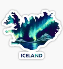 Iceland - Northern Lights Sticker
