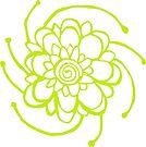 Wood Block Print Flower Number Two by melasdesign