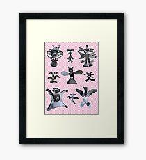 healing angels pattern Framed Print