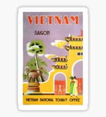 Vintage Saigon Vietnam Tourism Travel Sticker