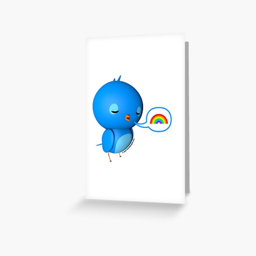 B.B. Bottoms - rainbow! Greeting Card