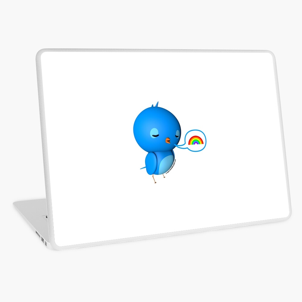 B.B. Bottoms - rainbow! Laptop Skin