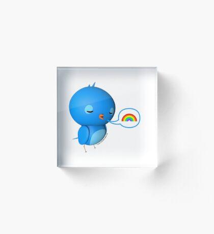 B.B. Bottoms - rainbow! Acrylic Block