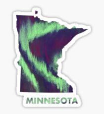 Minnesota - Northern Lights Sticker