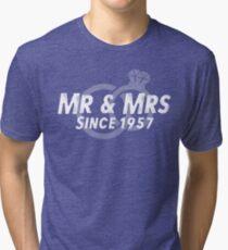 Mr & Mrs Since 1957 - 60th Wedding Anniversary Gift Ideas Tri-blend T-Shirt