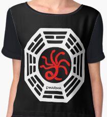 Dharma Initiative - The Hydra Station Logo (Lost TV Show) Women's Chiffon Top