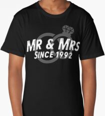 Mr & Mrs Since 1992 - 25th Wedding Anniversary Gift Ideas Long T-Shirt