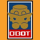 O'BOT: Love a Book (Gold) 2.0 by Carbon-Fibre Media