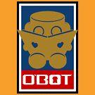 O'BOT: Love a Book (Gold) 2.0 by Carbon-Fibre Media