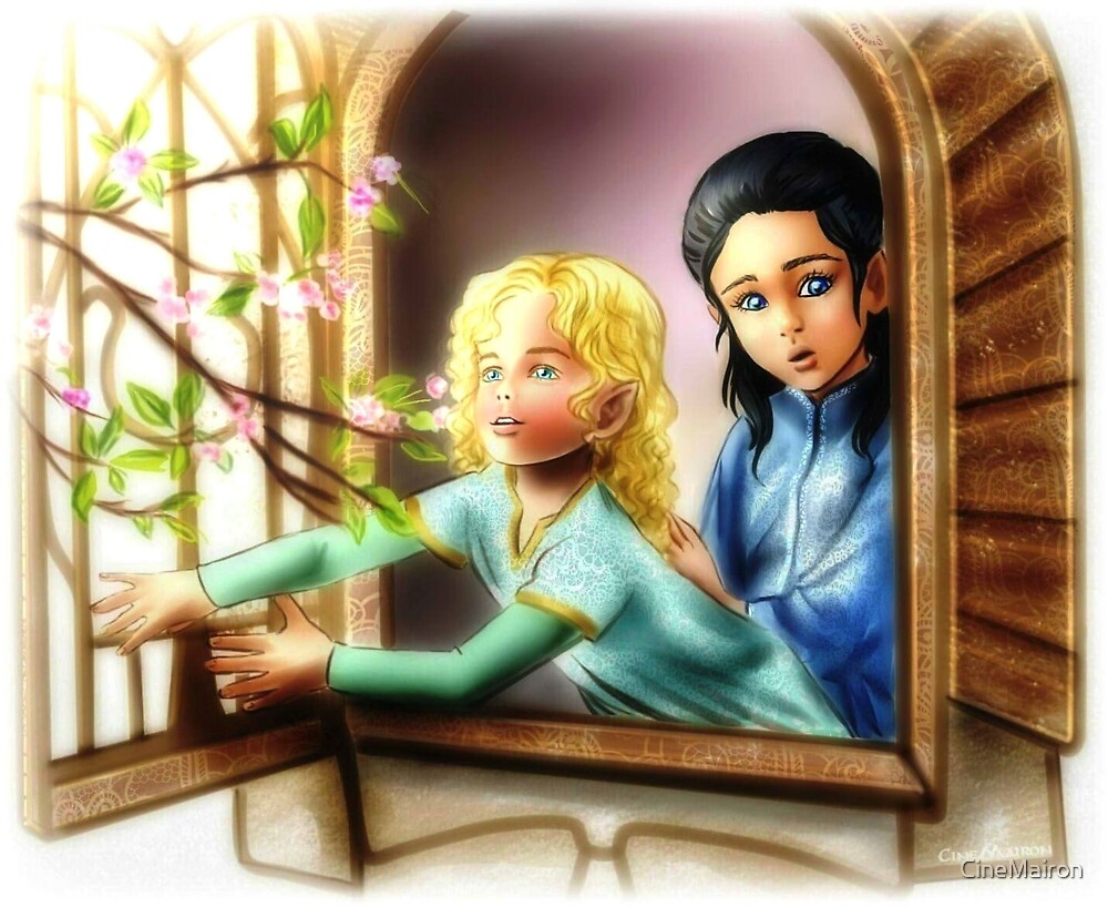 Young Finrod and Turgon by CineMairon